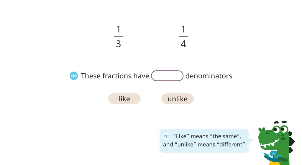 Add fractions with unlike denominators (multiply denominators to find a common denominator)