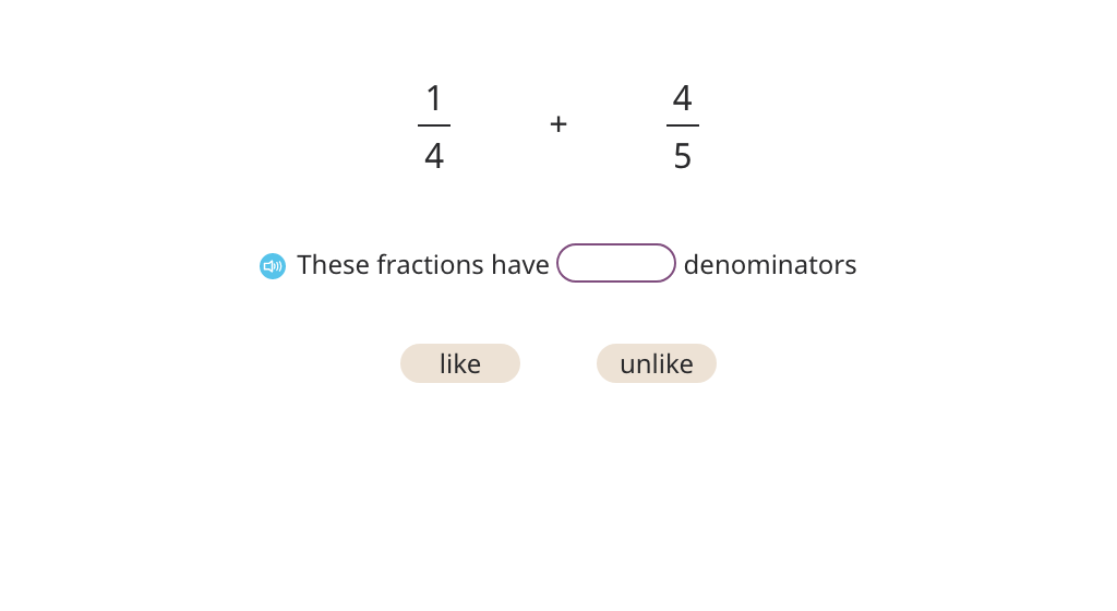Add fractions with unlike denominators and rewrite the sum as a mixed number