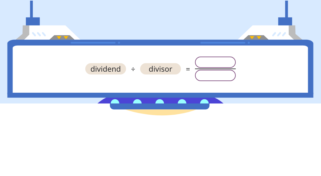 Rewrite division of whole numbers as a fraction and match a fraction to its related division equation