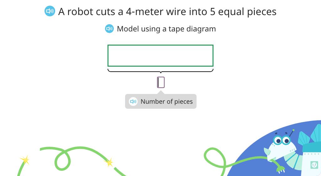 Solve fraction word problems based on a model (Level 2)