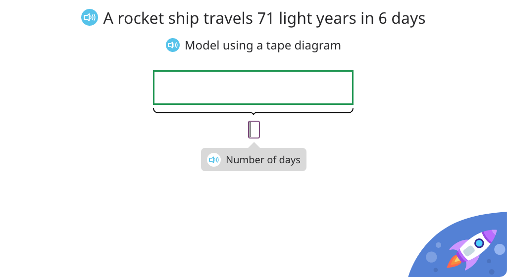 Solve fraction word problems based on a model (Level 4)