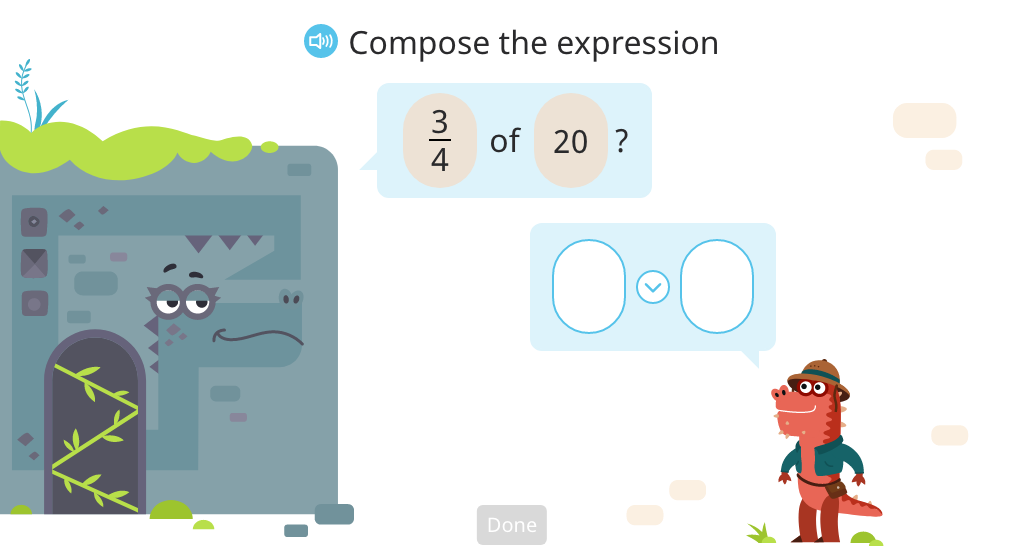 Compose an expression based on text