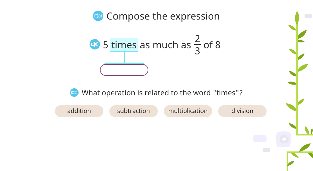 Compose a compound expression based on text (Part 2)