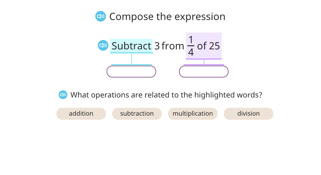 Compose a compound expression based on text (Part 3)