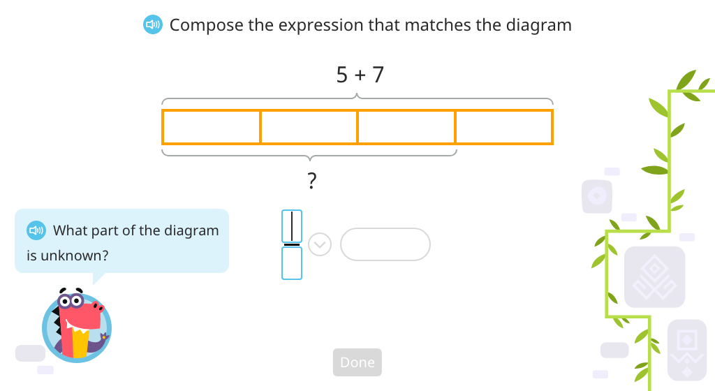 Compose a compound equation based on a model and solve (Part 1)