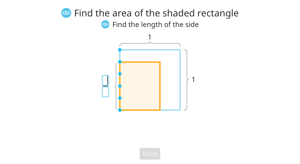 Multiply fractions using an area model
