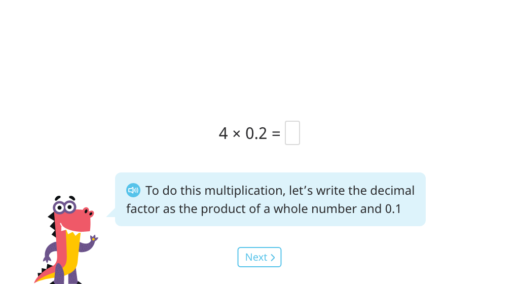 Decompose a decimal number to multiply