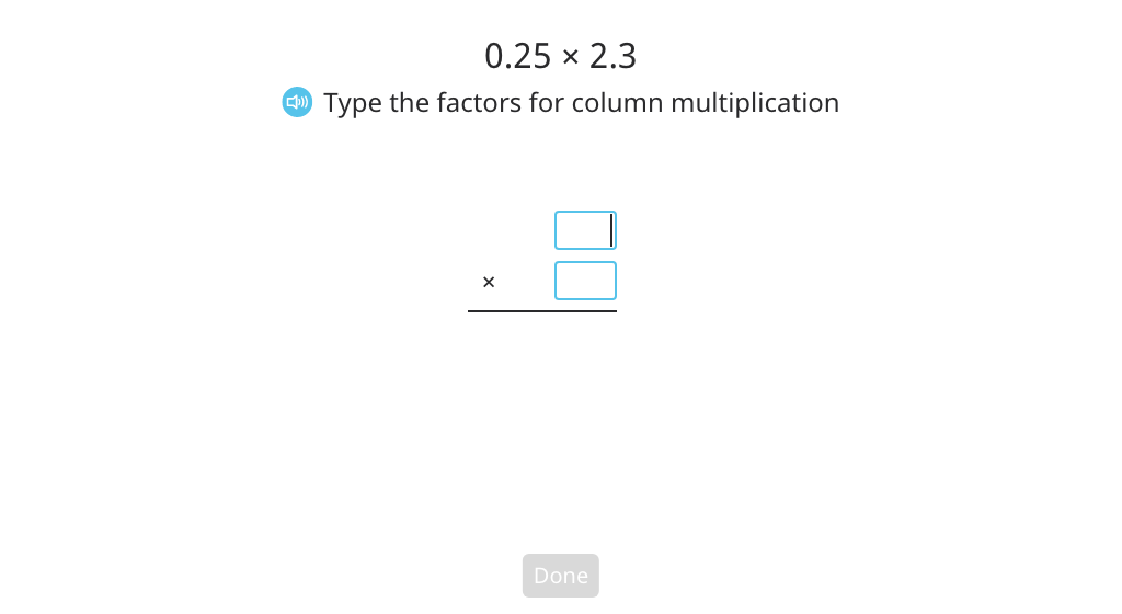 Multiply two decimal numbers using column multiplication (Part 2)