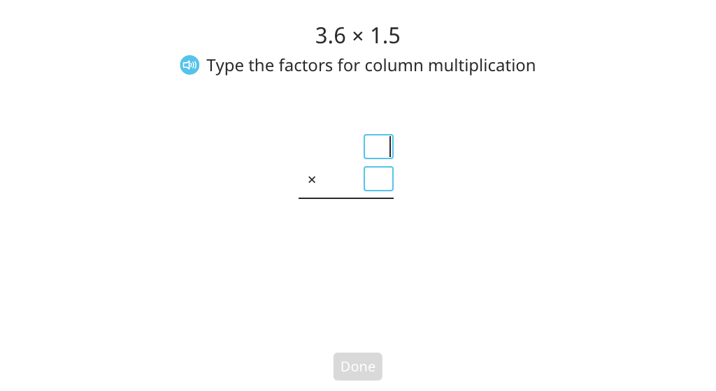 Multiply two decimal numbers using column multiplication (Part 3)