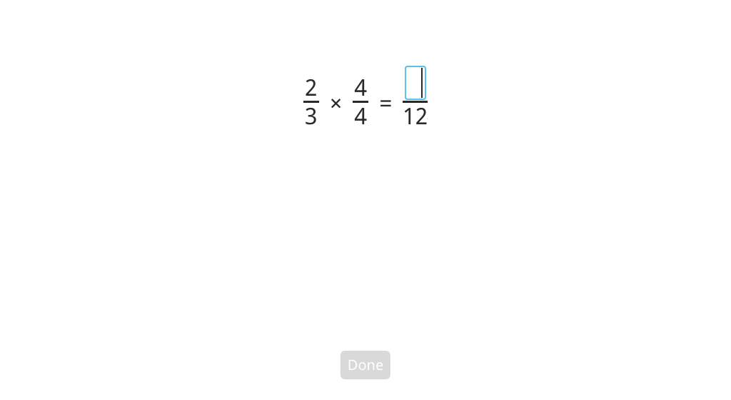 Multiply a fraction by a fraction equal to 1