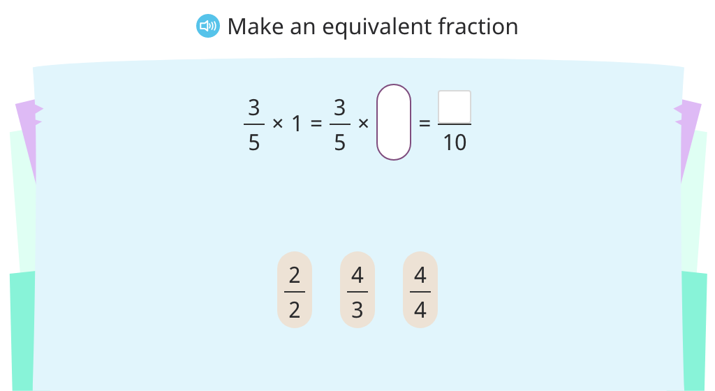 Convert a fraction less than one to decimal form (Level 2)