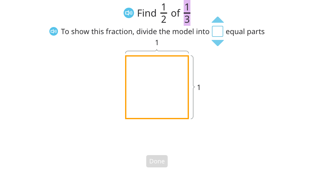 Multiply a unit fraction by a unit fraction with and without an area model (Part 1)
