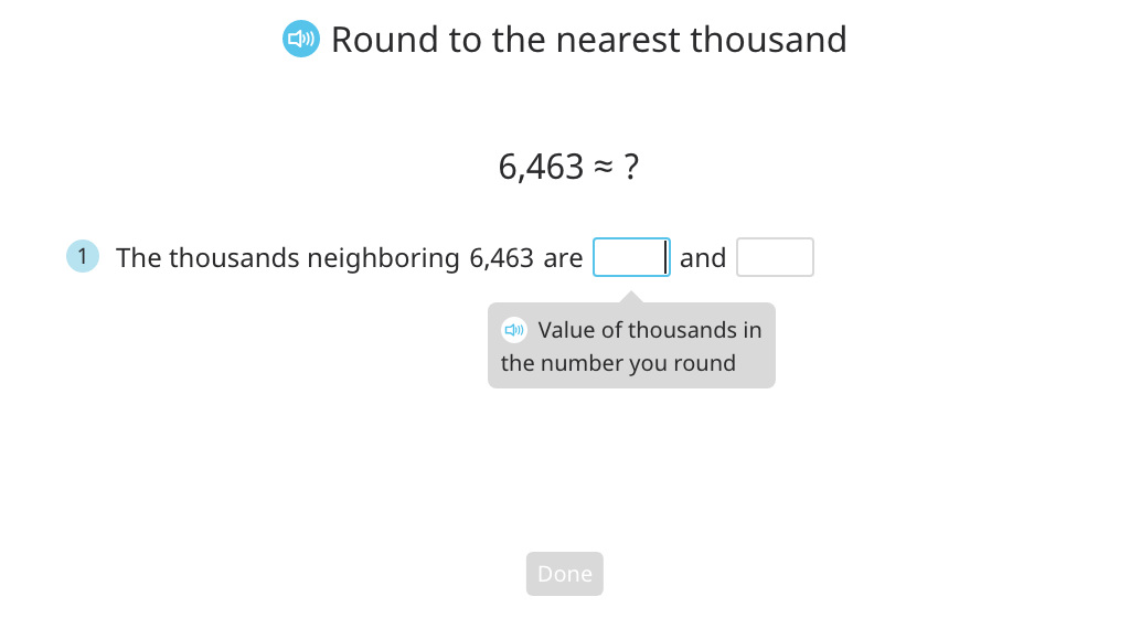Round a multi-digit number to the nearest thousand