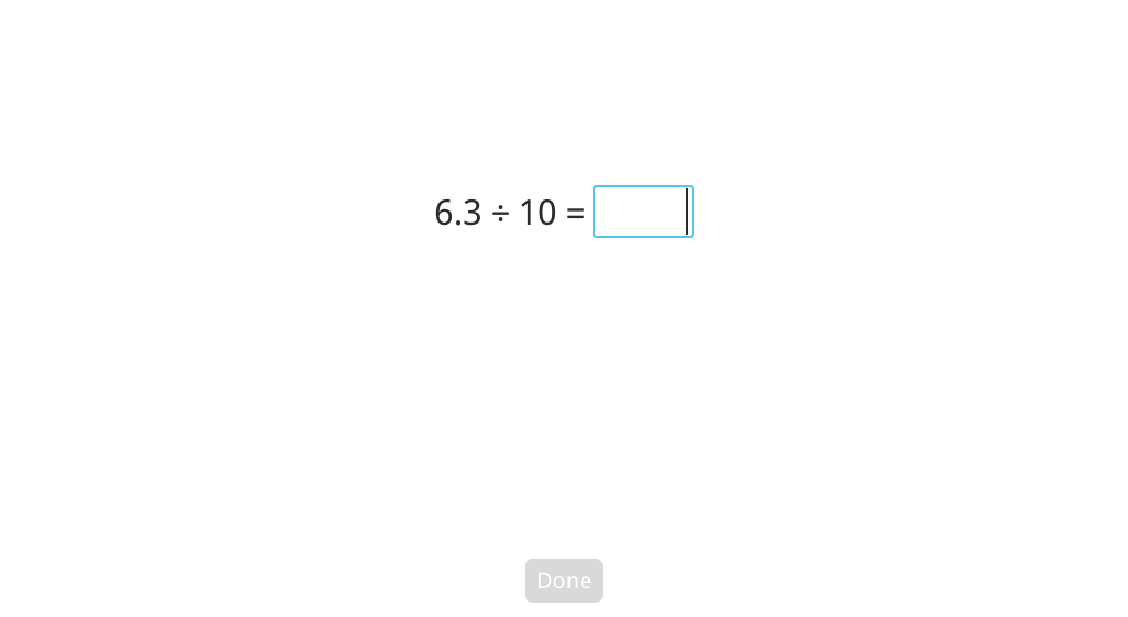 Divide a decimal number by 10 or 100