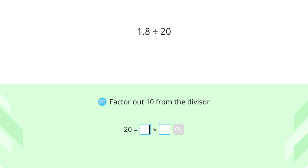 Divide a decimal number by a multiple of 10 or 100