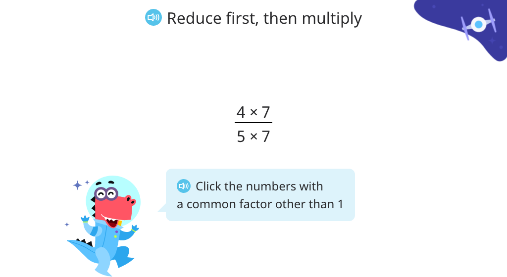 Simplify a fraction using the basic property of fractions