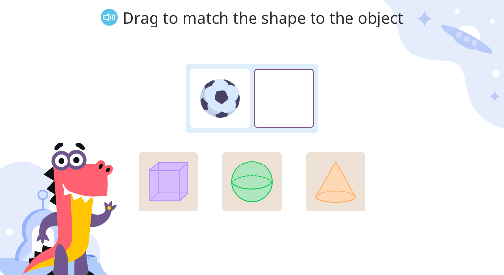 Match shapes to real-world objects