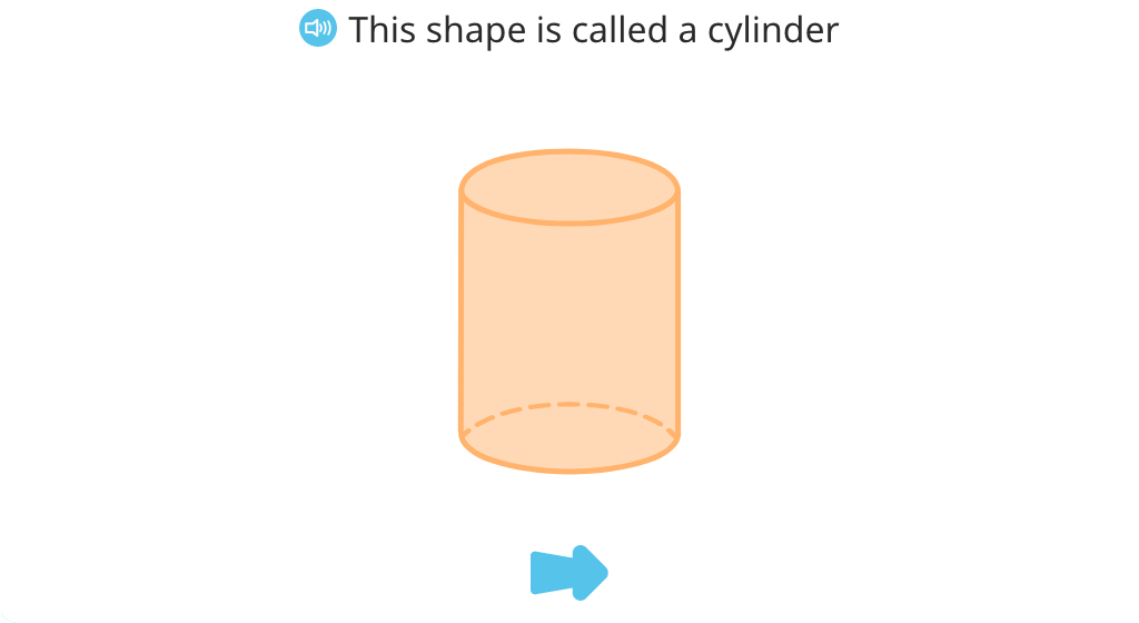Identify cylinders from among 3-D shapes