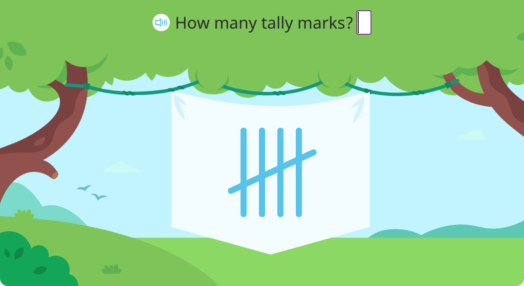 Identify totals of tally marks (Part 1)