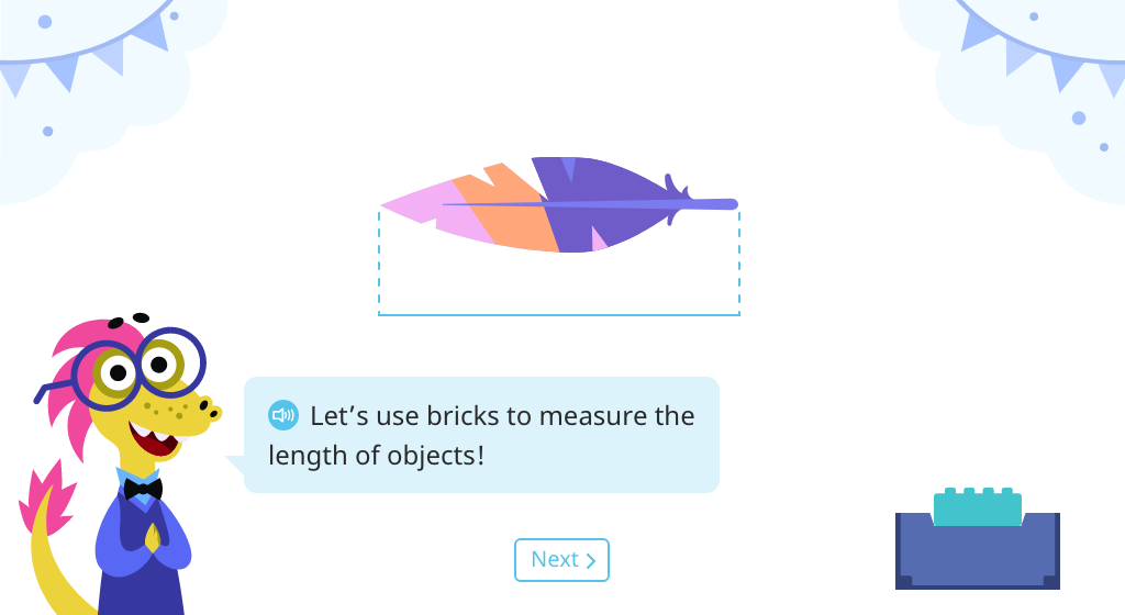 Count to measure lengths of objects in non-standard units