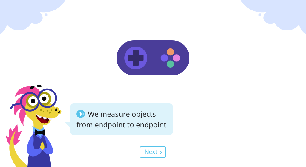 Measure lengths of objects from endpoint to endpoint with no gaps or overlaps