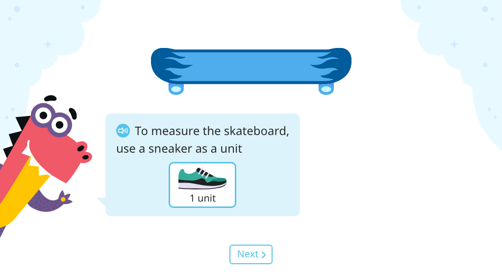 Compare lengths measured in different non-standard units