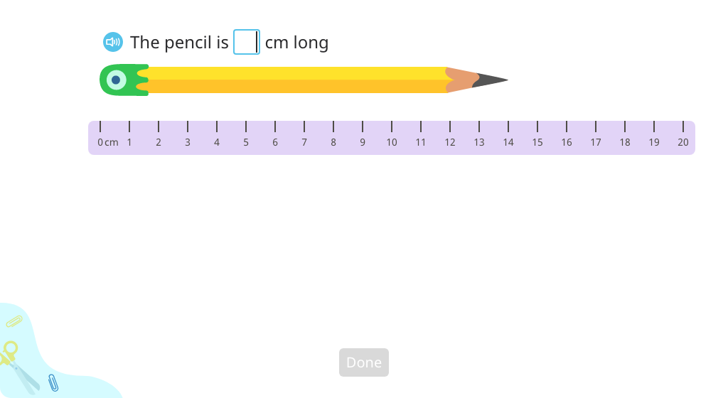 Subtract to compare lengths of measured objects