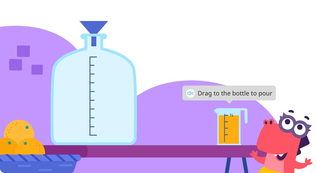 Measure capacity in liters