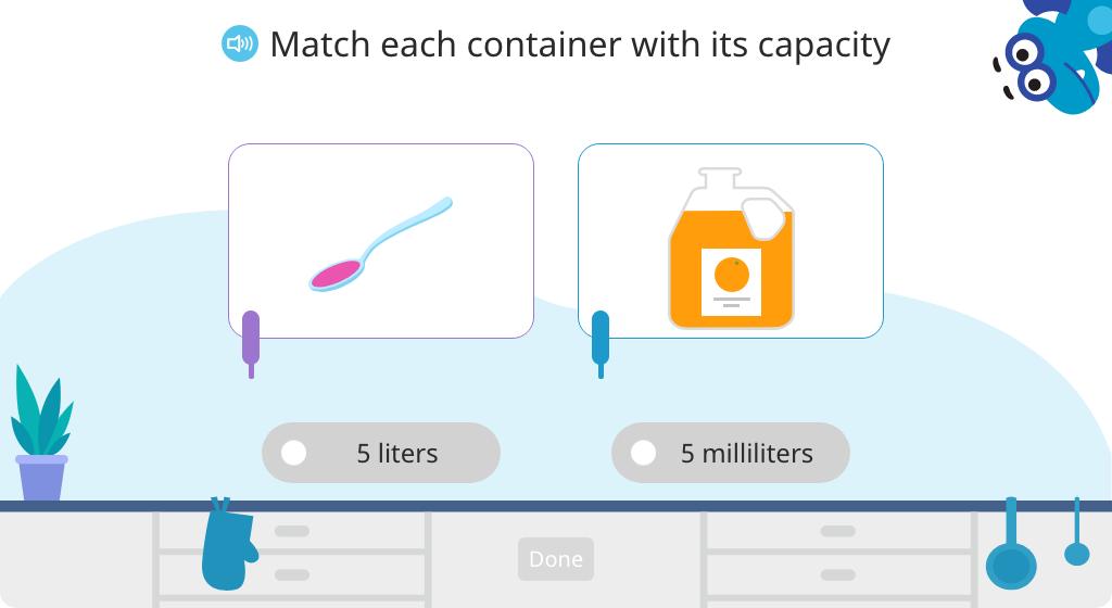 Measure capacity in milliliters
