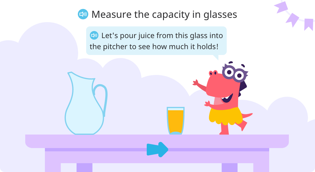 Measure capacity by pouring