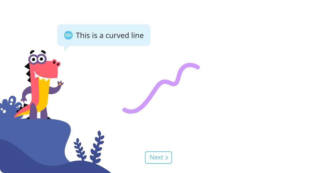 Identify curved lines