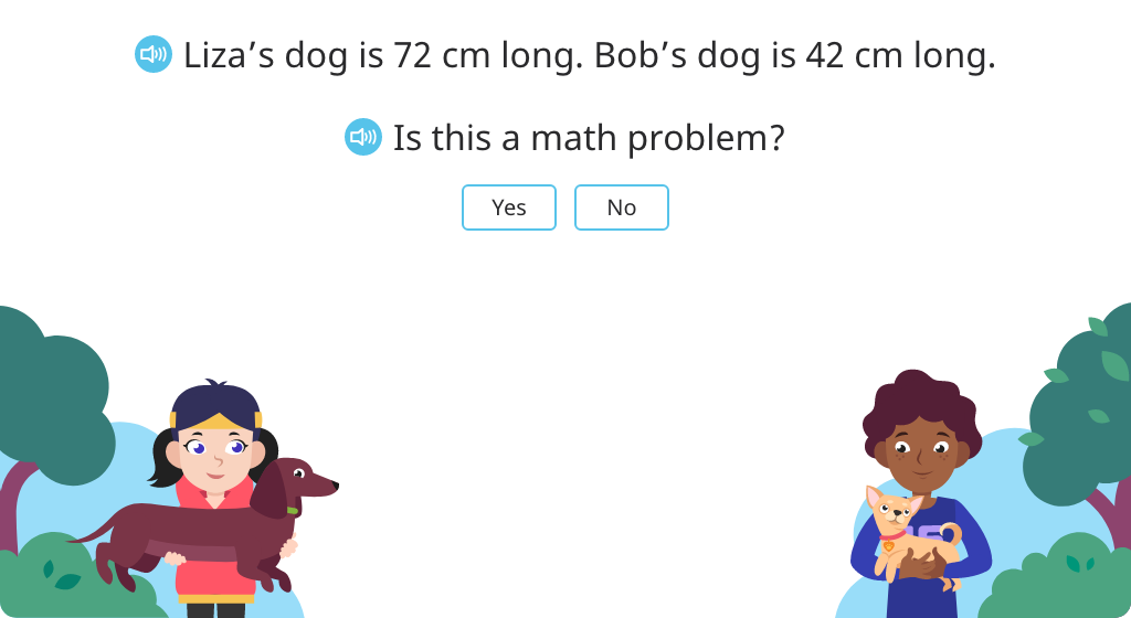 Show the question/solution element of a word problem on a tape diagram and solve