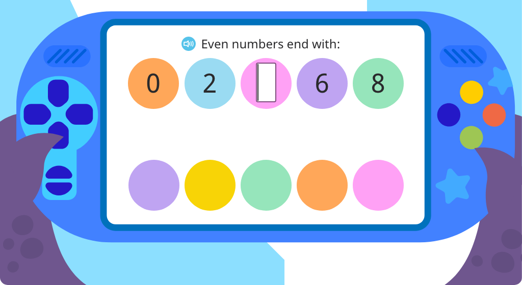 Identify odd numbers as ones ending in 1, 3, 5, 7, or 9