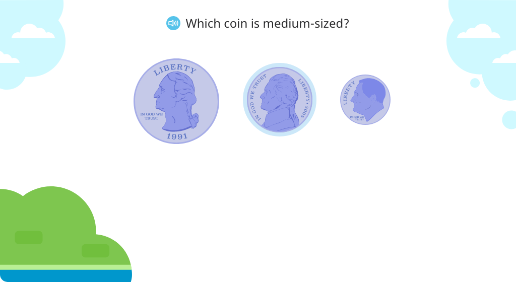 Identify a nickel and its value