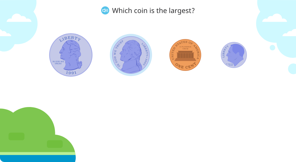 Identify a quarter and its value