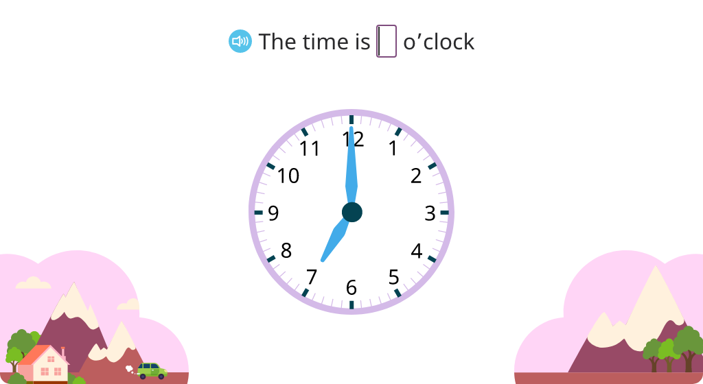 Identify passage of minutes on an analog clock