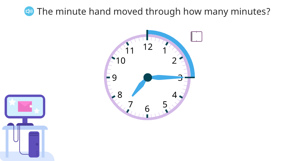 Tell time to quarter past and quarter to the hour
