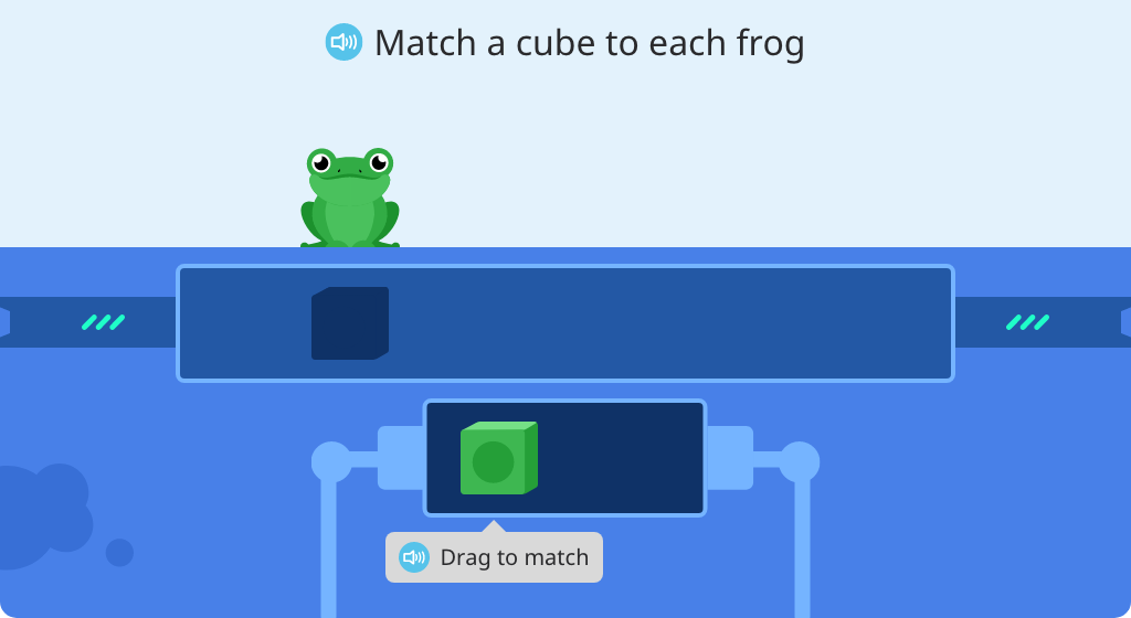 Represent objects with cubes