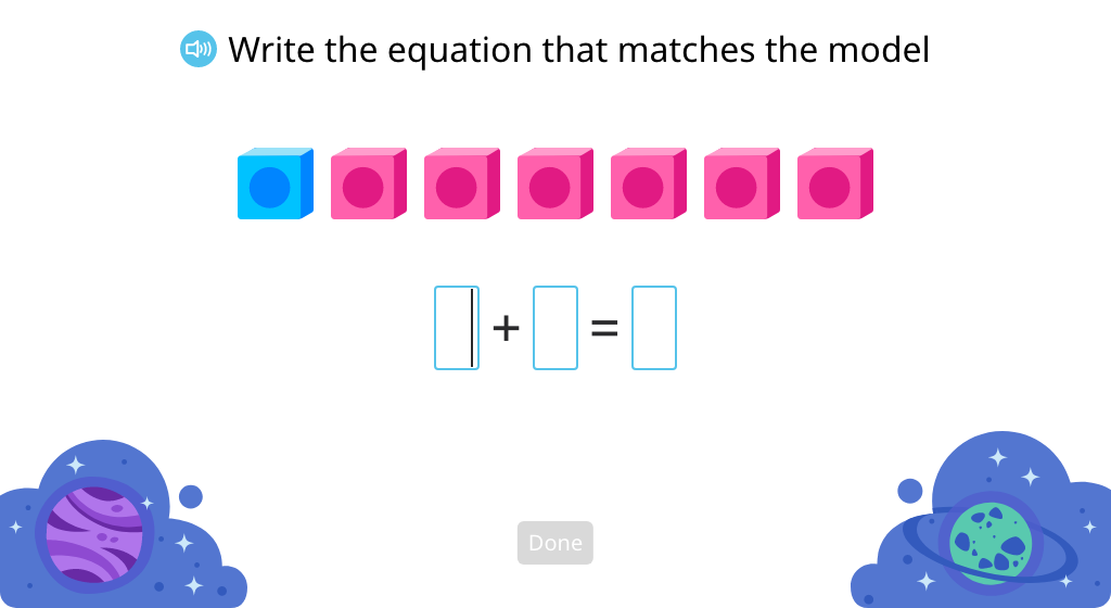 Model and solve an addition equation to show more than one way to reach a given sum (Part 1)