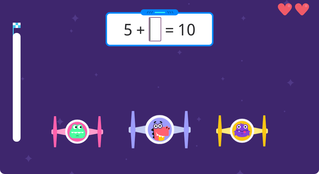 Solve missing addend addition equations