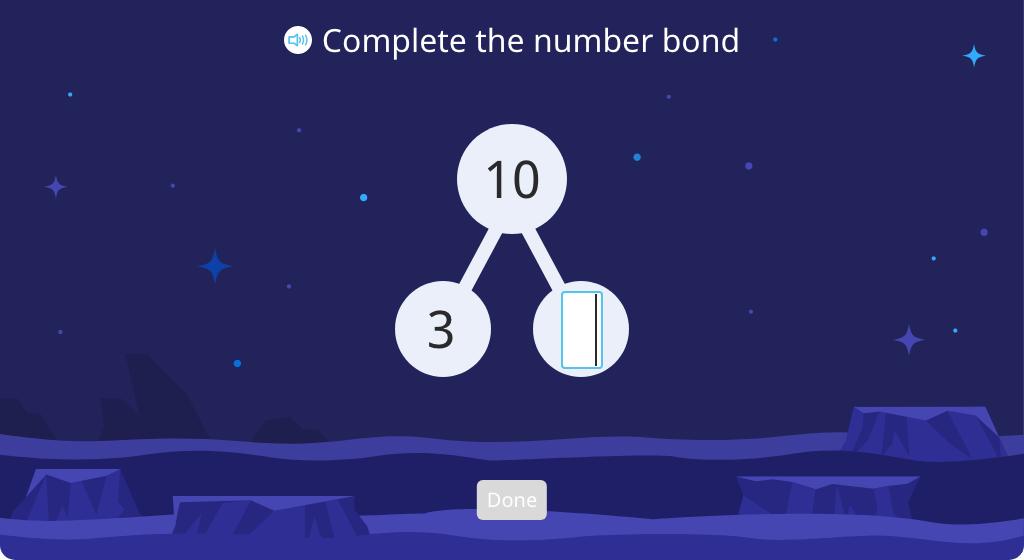Complete a number bond